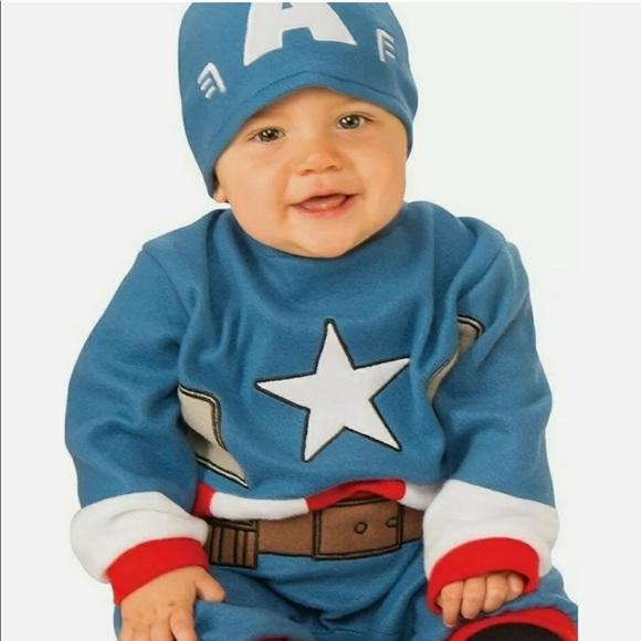 Baby's Marvel Captain America Romper 6-12 Months